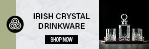 Irish crystal drinkware on sale - Irish products made in Ireland