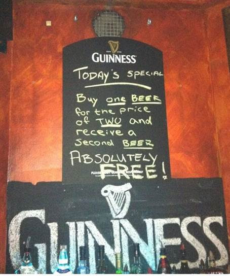 Irish Bar Sign from Scotland