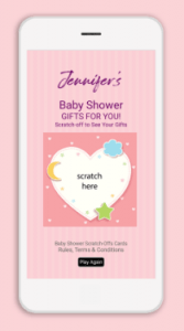 Make Virtual Gift Reveal Scratch-Offs for Baby Showers