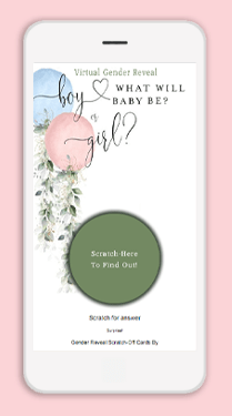 Make Virtual Gift Reveal Scratch-Offs for Gender Reveal Announcements and Parties